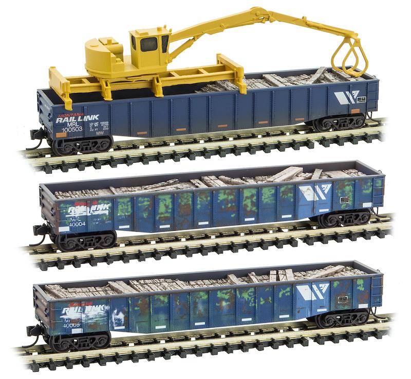 Z Scale Double-Bearing Steel Casting Railroad Flatcar Load